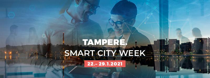 Tampere Smart City Week -tapahtuma järjestetään 22.-29.1.2021.
