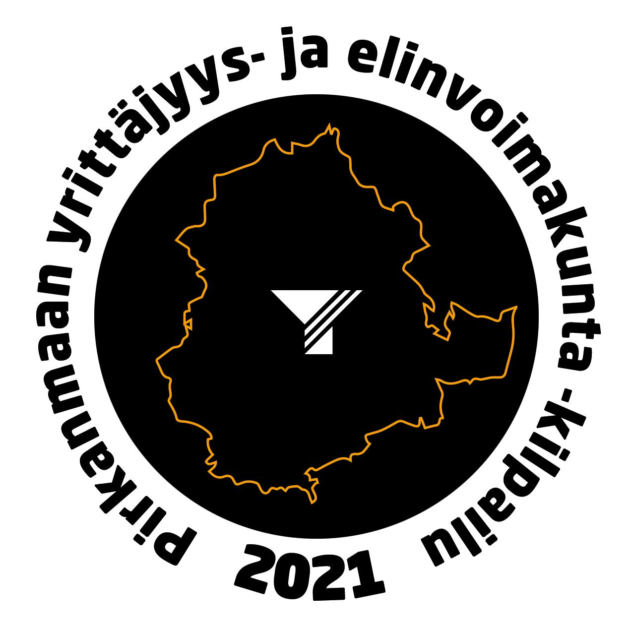 Pirkanmaan yrittäjyys- ja elinvoimakunta -kilpailun logo vuonna 2021.
